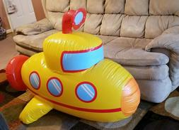 inflatable yellow submarine pool toy raft ride
