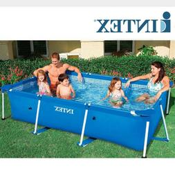 INTEX4 Size Rectangle Inflatable Frame Swimming Pool Set Pip