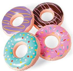 JUMBO FROSTED DONUT Shaped Inflatables - Blow Up Pool Party