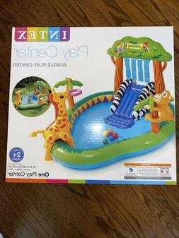 Intex Jungle Inflatable Pool Kid Play Center With Pump Same