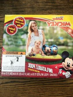 Disney Junior Mickey Inflatable Pool Inflates To 36 Inches