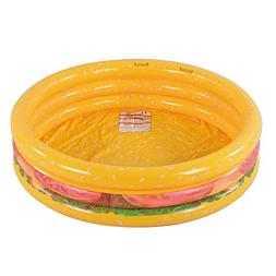 Kiddie Pool, Hamburger 3 Ring Inflatable Pool for Kids, Idea