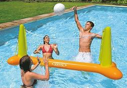 Kids Backyard Fun Play Intex Pool Volleyball Game Slide Infl