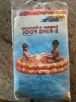 kids inflatable 2 ring swimming pool 48