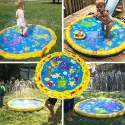Kids Inflatable Splash Water Mat Pool Beach Lawn Spray Water