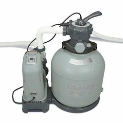 Intex Krystal Clear 2150 GPH Sand Filter Pump & Saltwater Sy