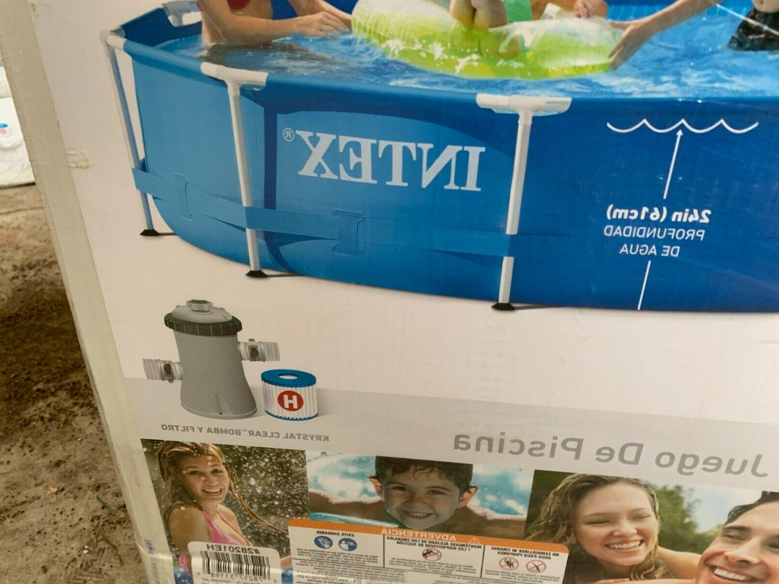 Intex 10' x Metal Frame Above Pool with Pump 10ft