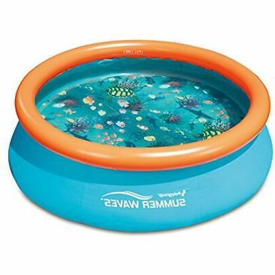 10 x30 3d inflatable top ring swimming