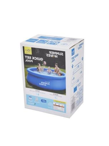 """Summer Waves 10'x30""""Quick Inflatable Above Pool w/ Filter Pump"""