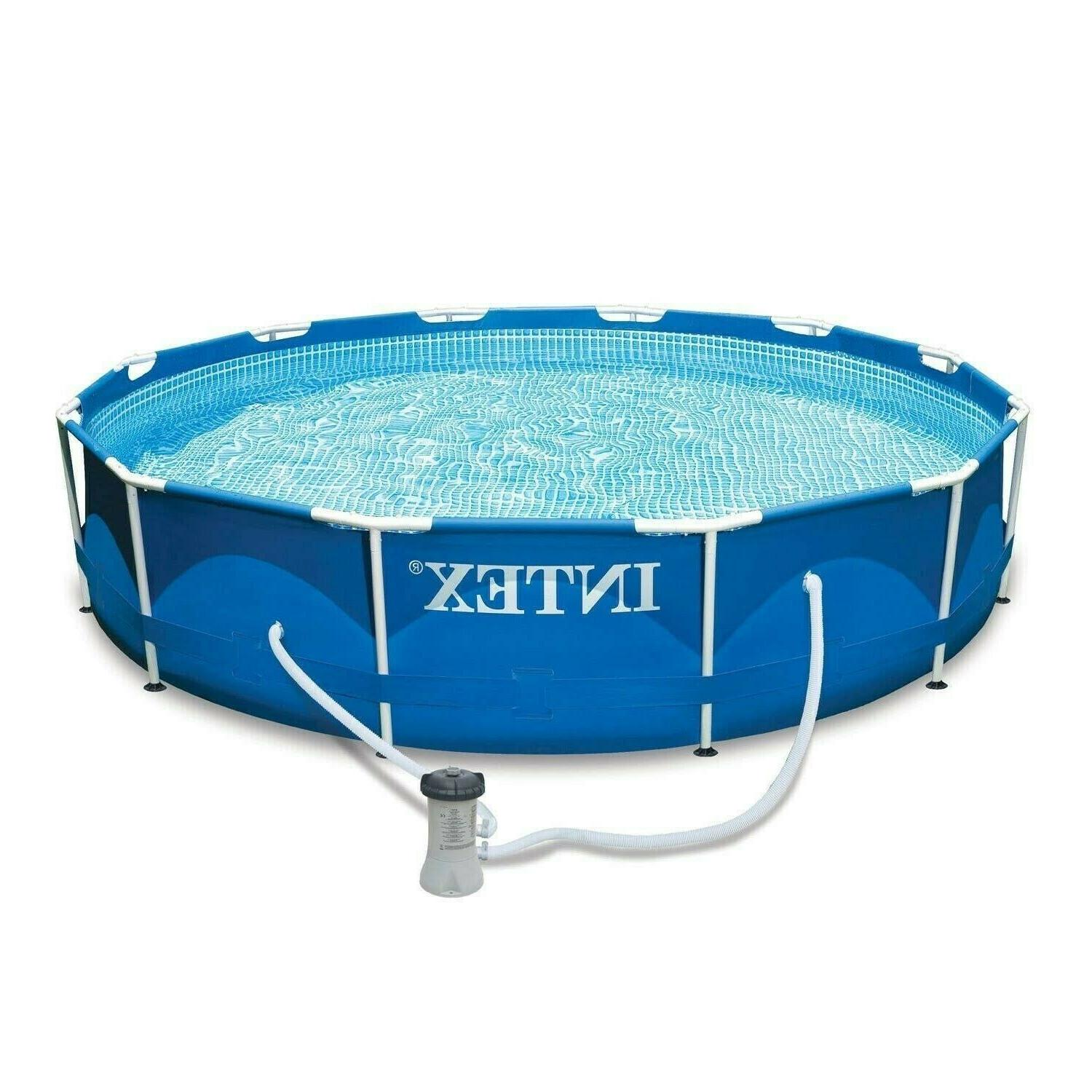 Intex 12ft x 33in Above Ground Pool Steel Frame Swim Summer