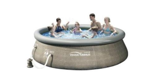 12ft x 36in above ground inflatable outdoor