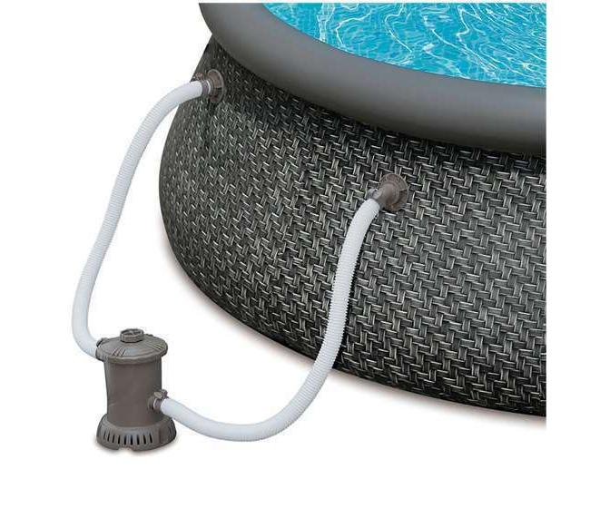 Summer Waves 12ft 36in Set Inflatable Round Pool Pump