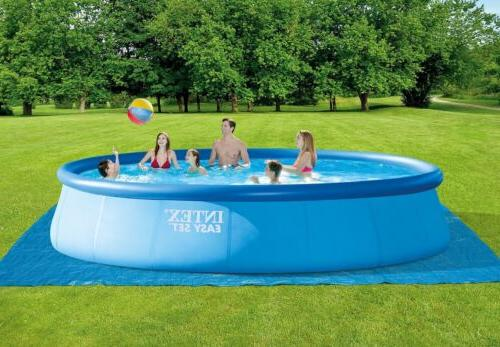 """Intex 42"""" Inflatable Easy Set Above Ground Swimming Ladder Pump"""