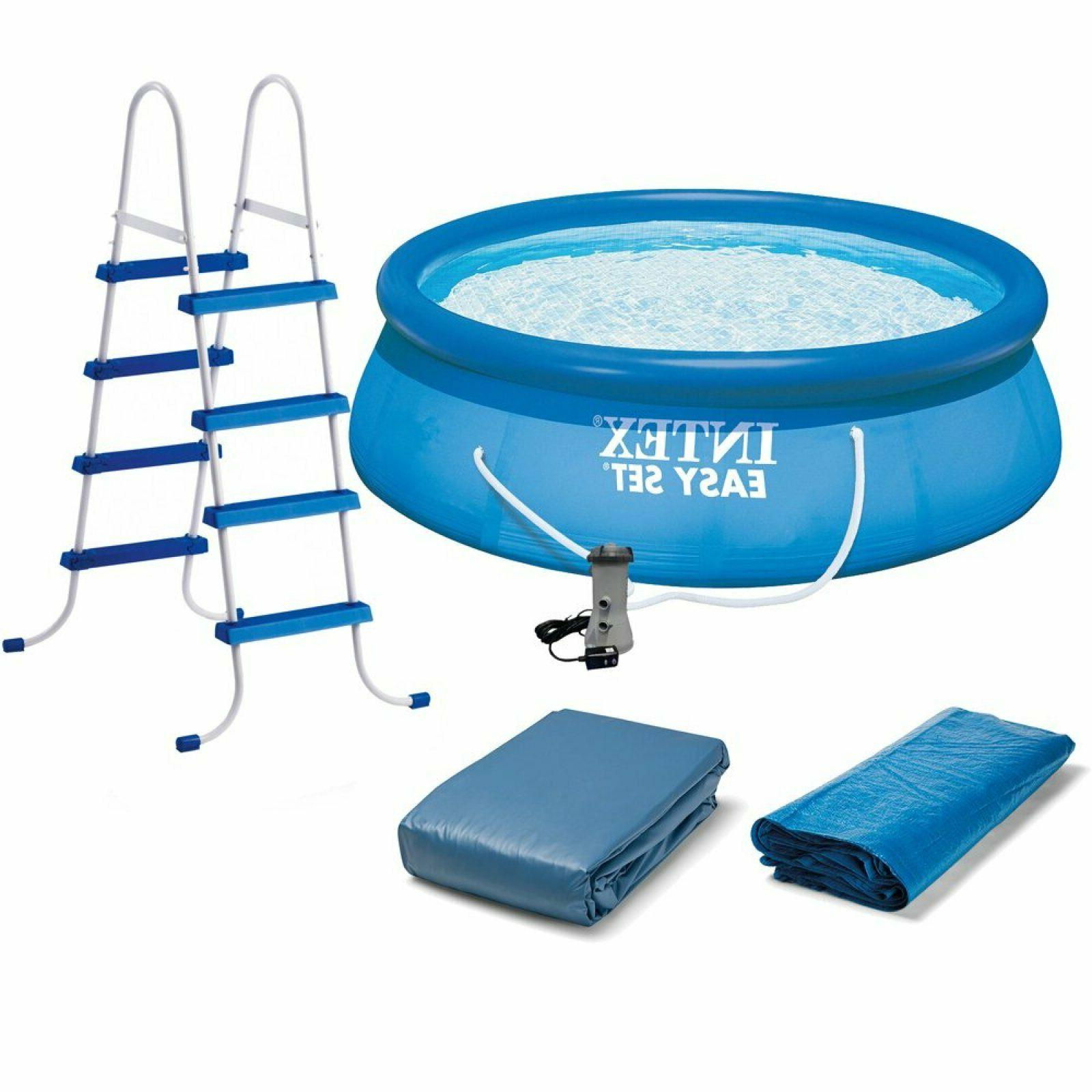 15 x 48 inflatable easy set above