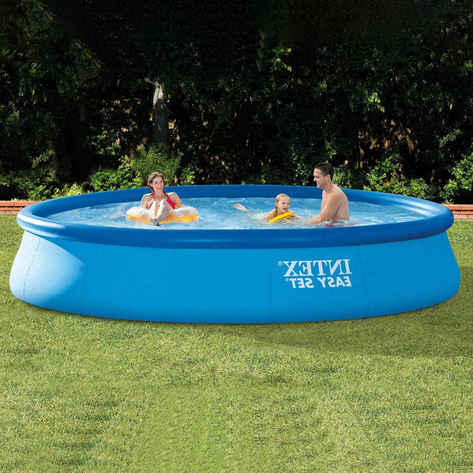Intex 15ft x 33in Easy Set Inflatable Swimming Pool with 530