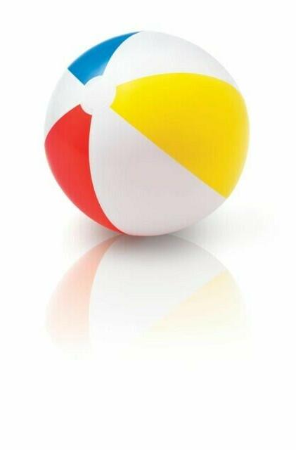 20 inch inflatable beach pool ball red