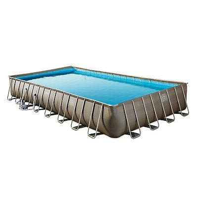 "Summer 32' x 16' x 52"" Pool Set + Two Inflatable Splash"