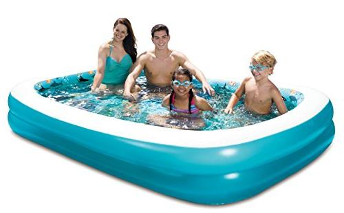 """Summer Waves 103""""x69""""x18"""" 3D Rectangular Pool with 1"""