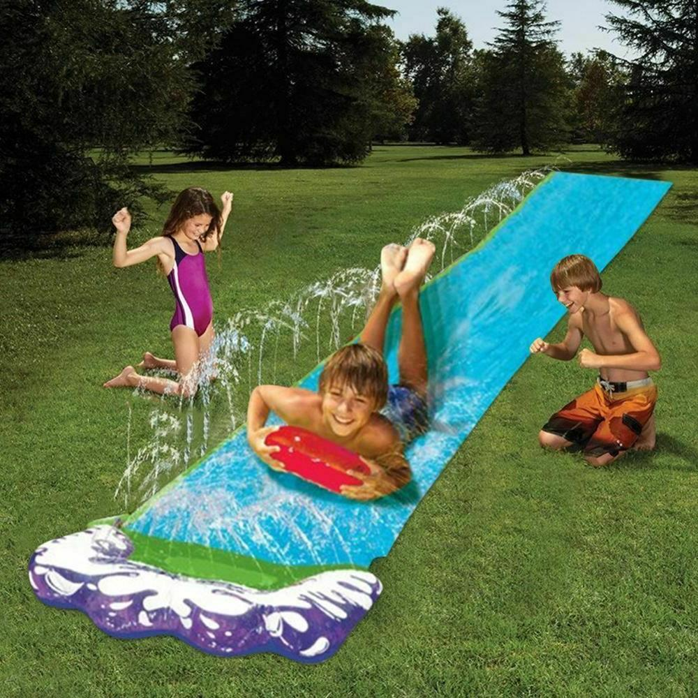 4.8m Double Slide PVC Inflatable Pools Kids Outdoor