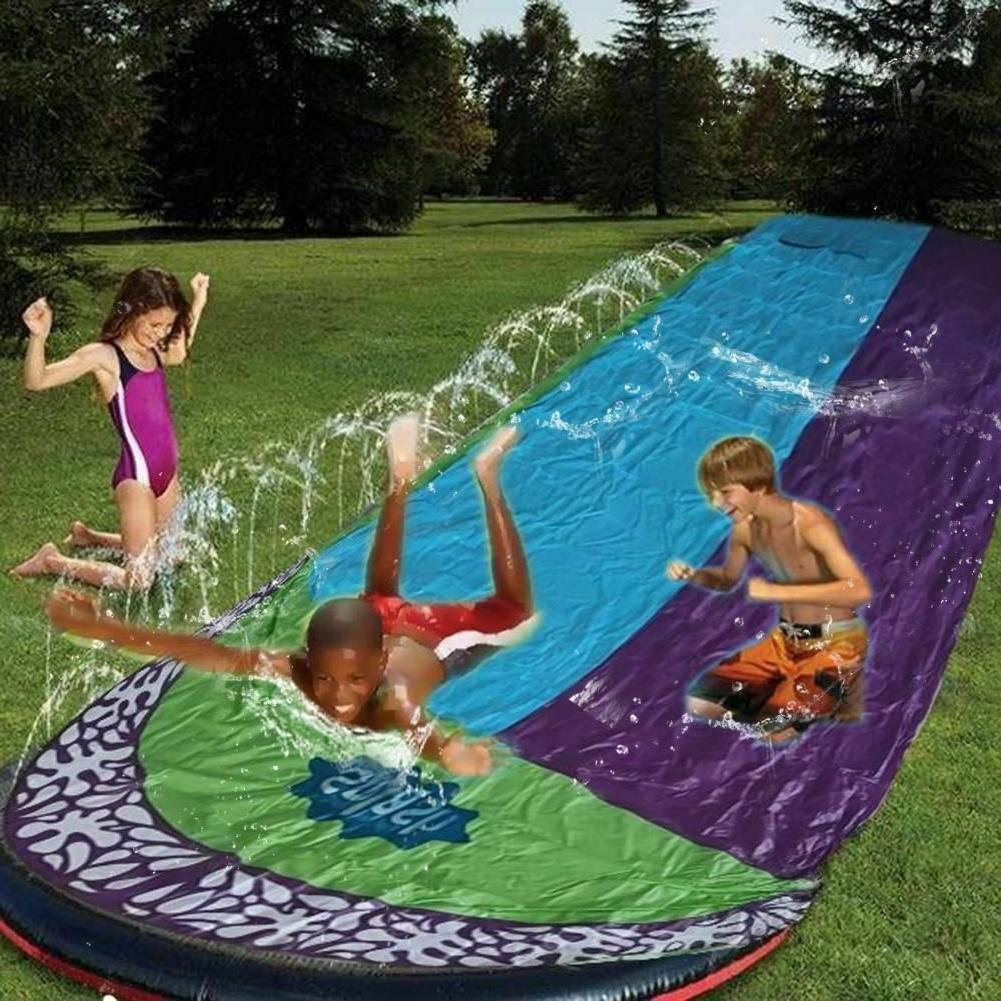 4.8m Double Surf Water Slide PVC Inflatable Lawn Pools Kids