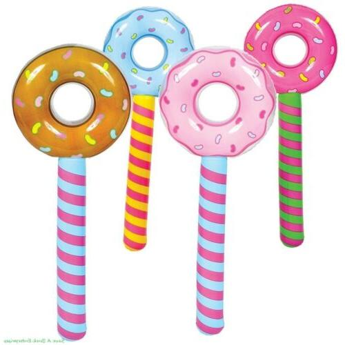 4 assorted donut stick inflatable pool party