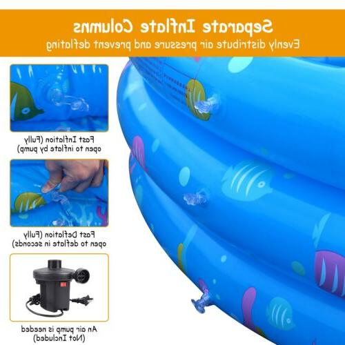 "51"" Swimming Pool Kids Center Fun Play Family 3"