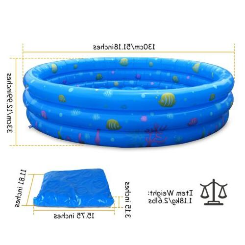 "51"" Inflatable Swimming Kids Fun For 3 Kids"