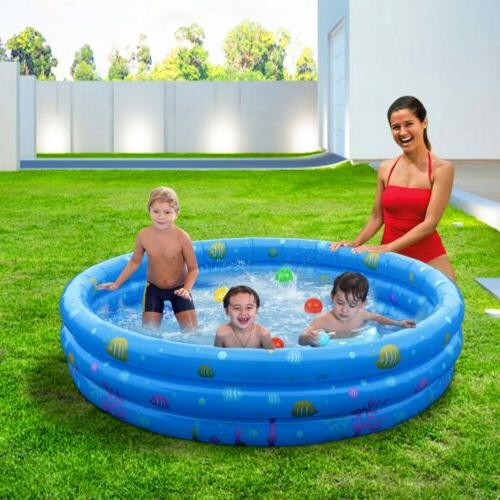 "51"" Inflatable Swimming Kids Fun Play Family 3"