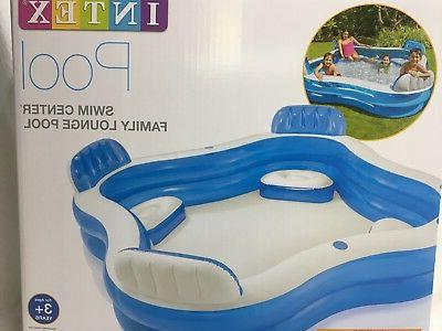 Intex Family Lounge Inflatable Pool 90inch 90inch