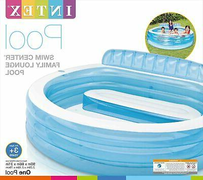 Intex Swim Inflatable Lounge Pool, 88in Ages 3+