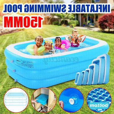 59 inch round inflatable swimming pool backyard