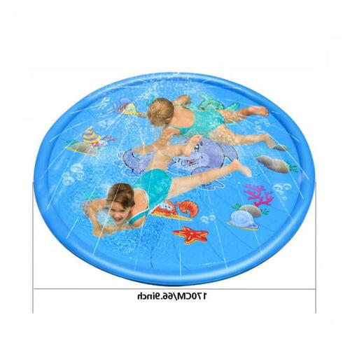 """66.9"""" Inflatable Water Mat Pool Beach Lawn Play Toy"""