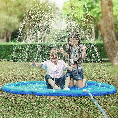 """68"""" Inflatable Spray Water Mat Outdoor Pool Play"""