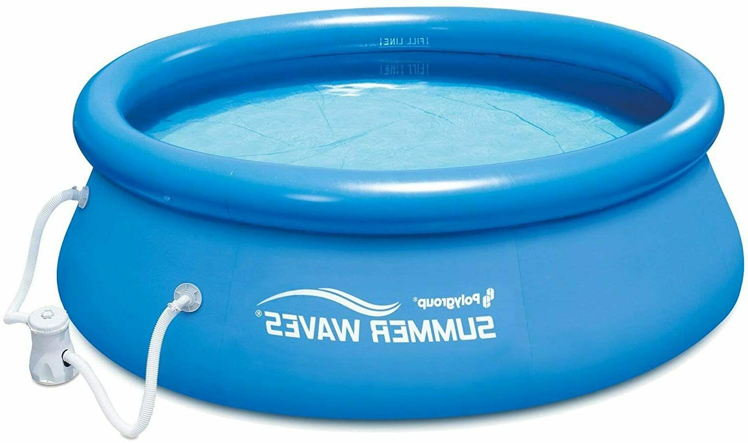 8 ft quick set inflatable above ground