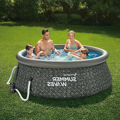Summer Waves 8ft x 2.5ft Outdoor Swimming Pool Pump