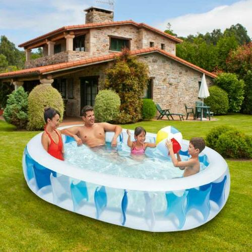 "90""×60""×20"" Swimming Pool Water Kids Outdoor Backyard"