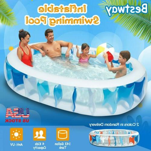 "90""×60""×20"" Inflatable Swimming Pool Water Play Fun"
