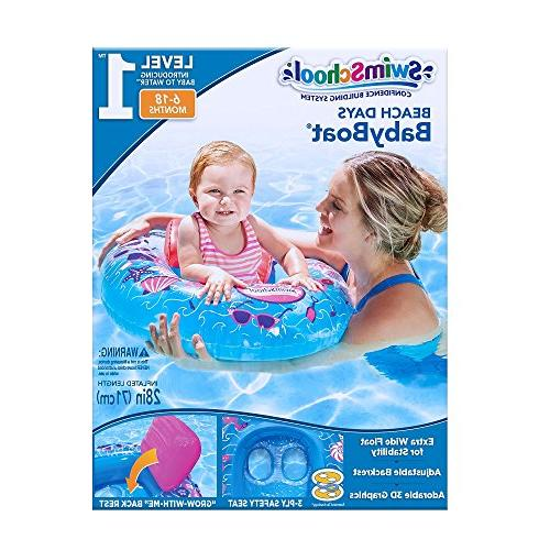 SwimSchool Beach Baby Boat Seat, Inflatable Pool 6