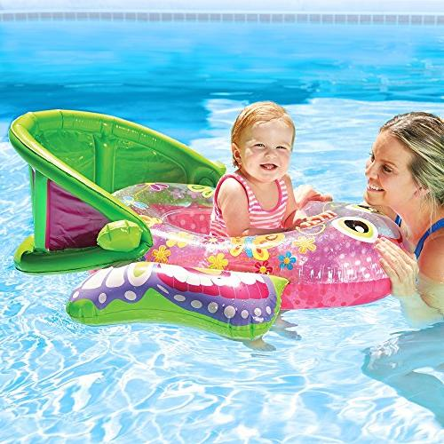 SwimSchool Bouncing Baby Boat UPF Pool Float, to 18