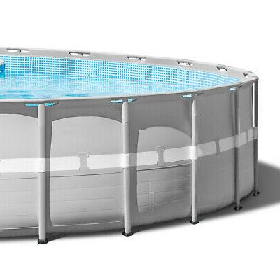 Intex Above Ground Pool w/ Inflatable Loungers