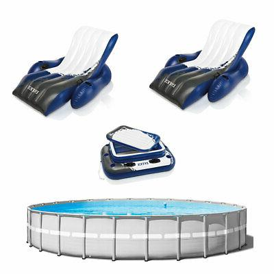 above ground swimming pool w 2 inflatable