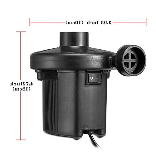 KUMEED Electric Air Quick-Fill for Inflatables Camp Bed Pool Pump 110V