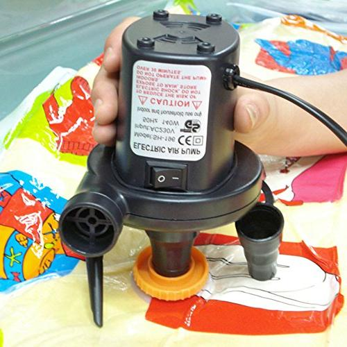 KUMEED Quick-Fill Camp Bed Pool Float, Pump Inflator 110V