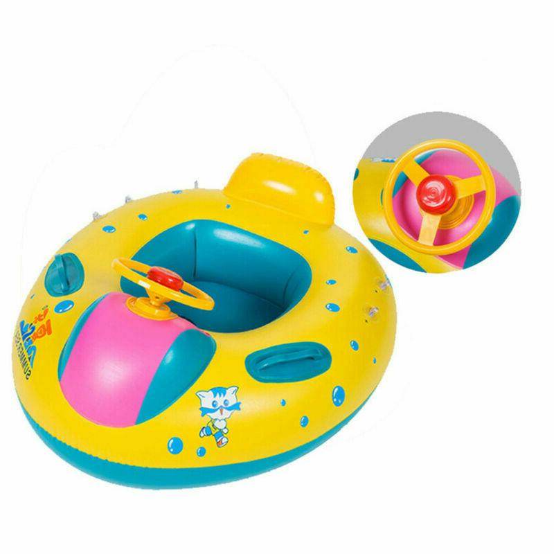 Inflatable Swim Ring Float Seat Swimming Boat