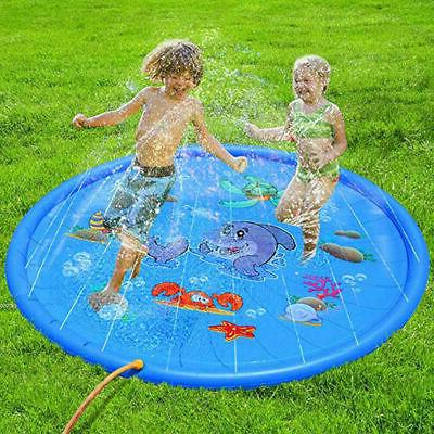 "Baby 68"" Inflatable Spray Water Mat Pad Pool Lawn Toy"