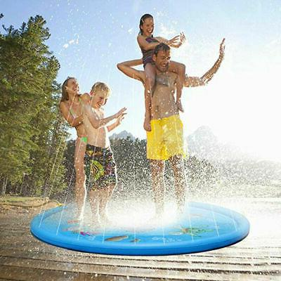 "Baby 68"" Inflatable Spray Splash Water Pad Pool Lawn Toy"