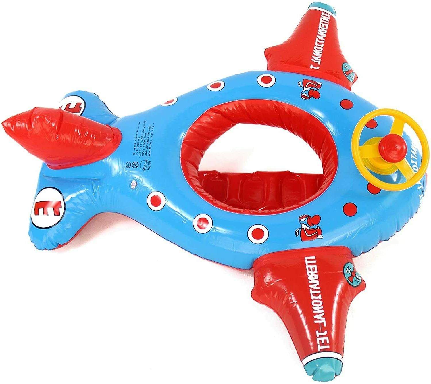 Baby Pool Float Airplane Sterling Wheel and
