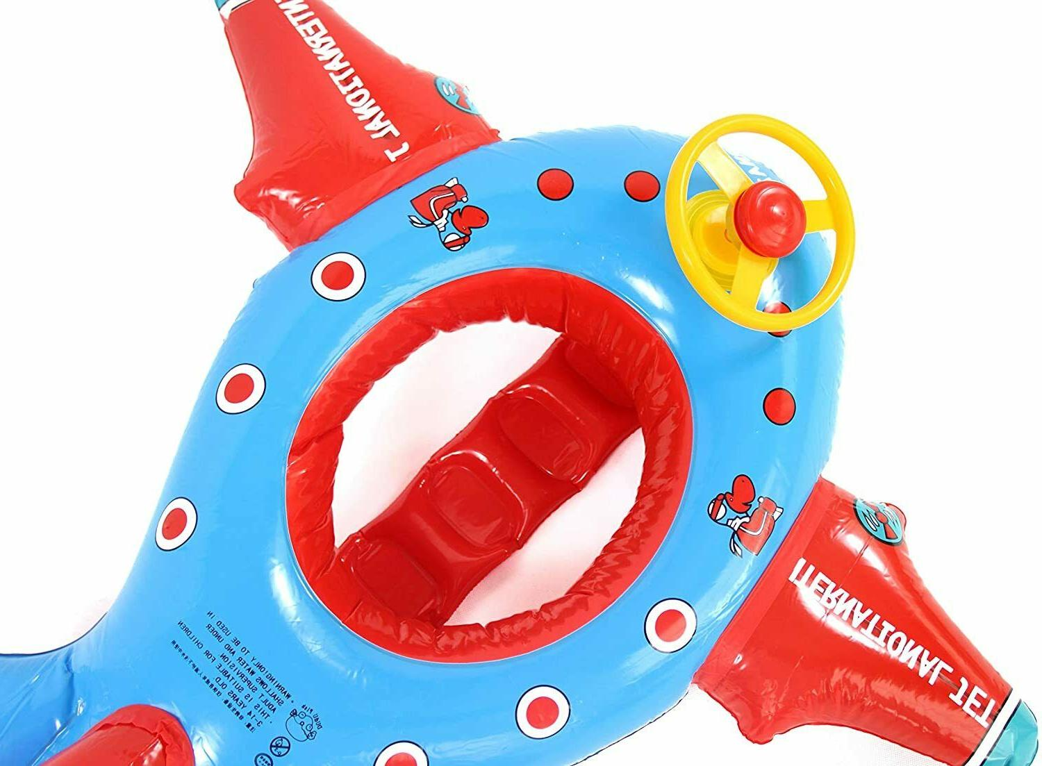 Baby Pool Airplane and Honk Swimming