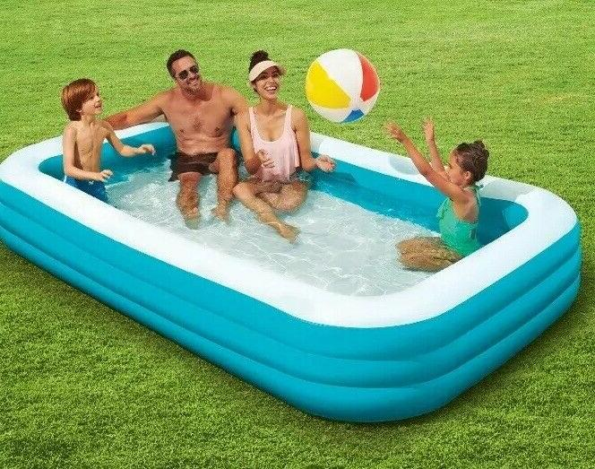 Play Day Foot Rectangular Family Inflatable Swimming HAND*