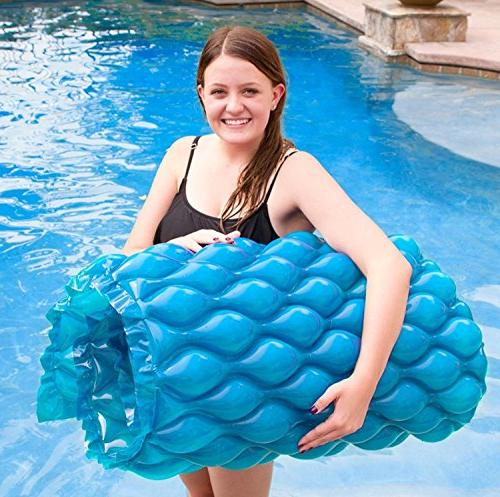 blue roll go inflatable swimming